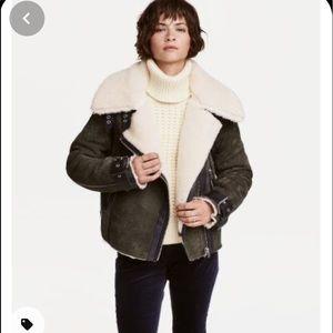 Fleece lined suede Moto jacket